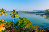 Blue Lagoon and the rising sun in Goa
