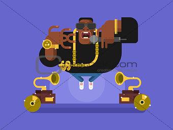 Black rapper character