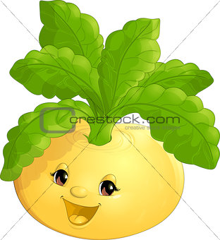 beautiful turnip on a white background