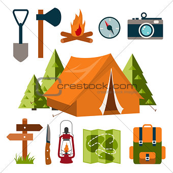 Tourist equipment. Camping.