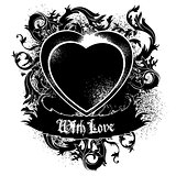 heart frame black