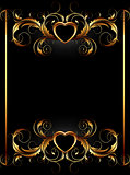 ornate frame with heart