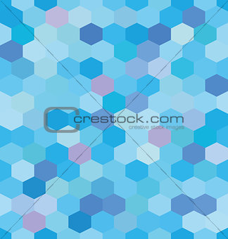 Abstract background blue hexagons