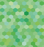 Abstract background green hexagons