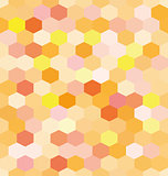 Abstract background orange hexagons