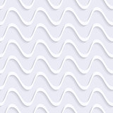 Vector seamless wavy line pattern