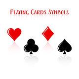 Vector playing card symbols
