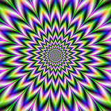 Star Flower in Green Blue and Violet