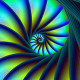 Stair Spiral in Blue and Turquoise