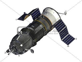 Cargo Spacecraft Deploys Solar Panels
