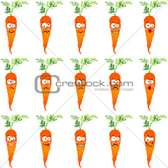Carrots with different expressions