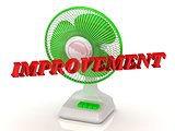 IMPROVEMENT- Green Fan propeller and bright color letters