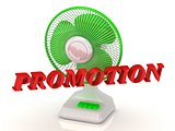 PROMOTION- Green Fan propeller and bright color letters
