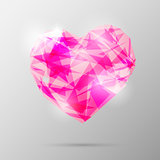 Future geometric heart. Abstract template. Vector illustration.