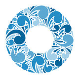 Abstract vector ornate floral frame for background.
