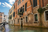 Sailing on the canals of Venice