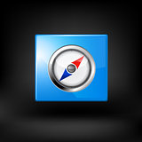Blue navigation icon. Vector