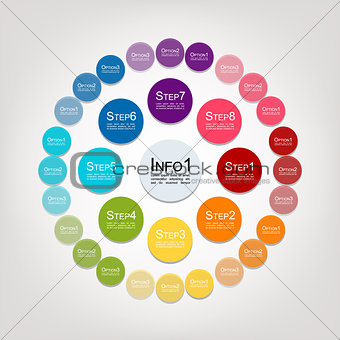 Circle infographic for your design