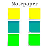 Notepaper vector illustration