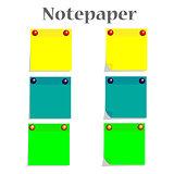 Notepaper vector illustration
