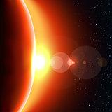 red sun shine