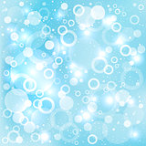 dream circles blue background