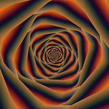 Tunnel Spiral in Orange Blue and Violet