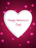 Pink valentine day greeting with bursting heart