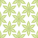 Simple green flowers seamless pattern