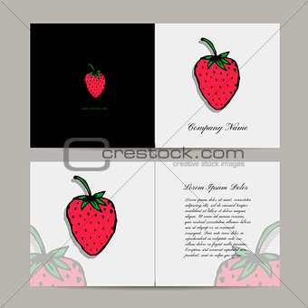 Greeting card, strawberry design