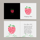 Greeting card, raspberry design