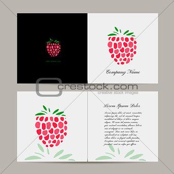 Greeting card, raspberry design