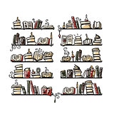 Book shelves, sketch for your design