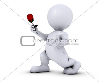 3D Morph Man with Rose