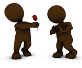 3D Morph Man with Rose