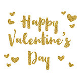 Glitter Valentines day background
