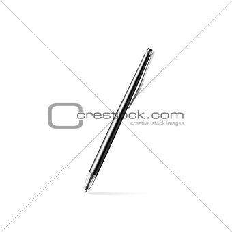 Black pen, vector