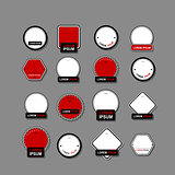 Set of labels for your design