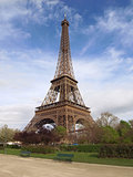Eiffel Tower of Paris in France.