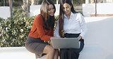 Two businesswomen having an informal meeting