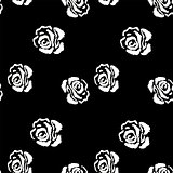 Rose seamless pattern. Vintage background with rose.