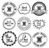 Hand-drawn retro vector hand-made badge