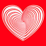 red vector heart