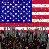 People celebrating USA day