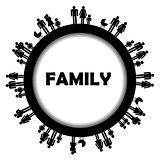 Round frame family simbols