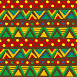 Triangular geometric pattern in ethnic style with folk motifs
