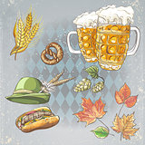A set of objects to the Oktoberfest