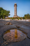 Shining Lighthouse in Savudrija, Istria, Croatia