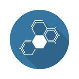 Biochemistry Icon. Flat Design.