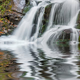 Beautiful autmn waterfall